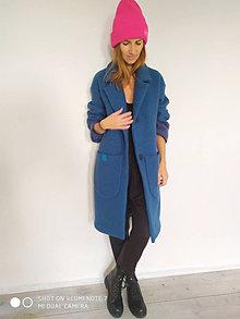 Kabáty - Vlnený oversize kabát - 12493956_