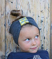 Detské čiapky - ČELENKA - uchokrytka (3-5 rokov (Hanka na foto má 4,5 roka), obvod hlávky cca. 50 cm) - 12493752_