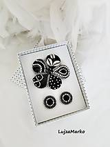 Odznaky/Brošne - Čierny kvet sada - 12492699_