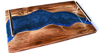 Nádoby - Podnos zo starého dreva epoxy 2 - 12494310_