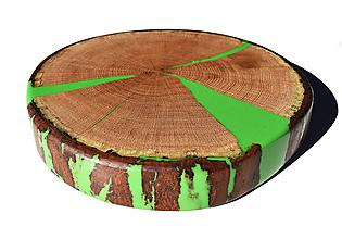 Nádoby - Podnos zo starého dreva epoxy color - 12494323_