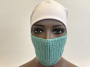 Rúška - háčkované Rúška na tvár a aj krk - 12492105_