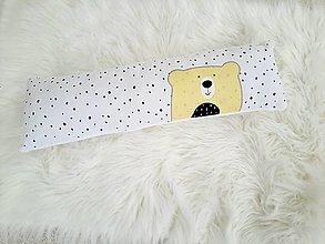 Textil - Vankúšik SCANDINAVIA Žltý 18x60cm, flis zadná strana - 12498208_