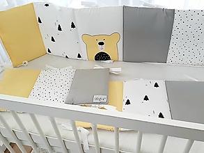 Textil - Mantinel Scandinavia Žltý macko 240x30cm - 12498237_