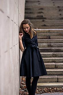 Šaty - MIA, košilové šaty s narameníky, černé - 12499520_