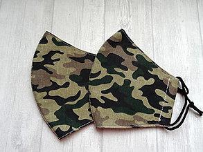 Rúška - Bavlnené rúška... pánske (Maskáč zelenohnedý) - 12498473_