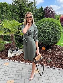 Šaty - Zavinovacie šaty zelené - 12497300_