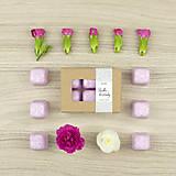 Svietidlá a sviečky - Sladké kvetinky vonný vosk - aróma - 12498799_