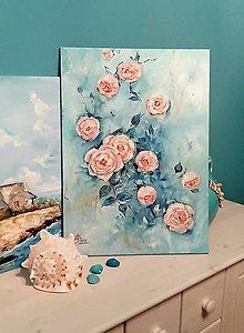 Obrazy - Vintage roses - 12498873_