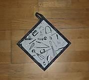 Úžitkový textil - Chňapka s kuchynským motívom - 12498910_