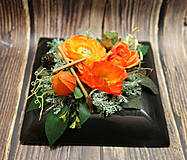 Dekorácie - Ikebana v oranžovej farbe - 12499380_