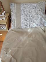 Úžitkový textil - Posteľné obliečky  v béžovom - 12499310_