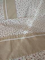 Úžitkový textil - Posteľné obliečky  v béžovom - 12499311_