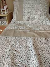 Úžitkový textil - Posteľné obliečky  v béžovom - 12499312_