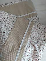 Úžitkový textil - Posteľné obliečky  v béžovom - 12499313_