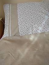Úžitkový textil - Posteľné obliečky  v béžovom - 12499314_