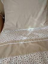 Úžitkový textil - Posteľné obliečky  v béžovom - 12499315_