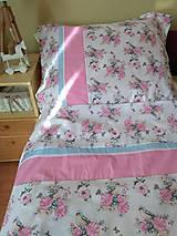 Úžitkový textil - POSTEĽNÉ OBLIEČKY ružový vtáčik - 12499413_