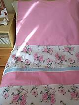 Úžitkový textil - POSTEĽNÉ OBLIEČKY ružový vtáčik - 12499415_