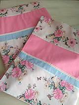 Úžitkový textil - POSTEĽNÉ OBLIEČKY ružový vtáčik - 12499416_