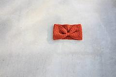 Čiapky - ...dámska čelenka 100% MERINO ORANGE - 12497230_