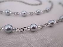 Iné šperky - Retiazka na okuliare - strieborno/priehľadná - chirurgická oceľ - 12495327_