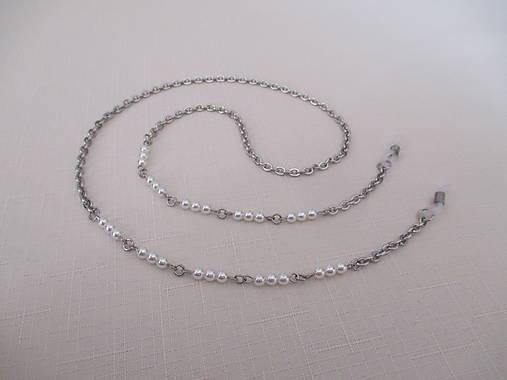 Retiazka na okuliare - biele perly - chirurgciká oceľ