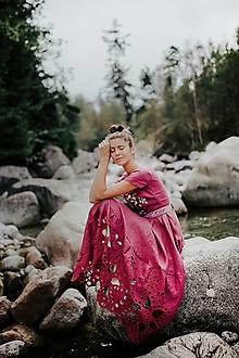 Šaty - fialové šaty Poľana - 12495481_