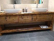 """Nábytok - Skrinka pod umývadlo 6"""" staré drevo """" - 12499364_"""