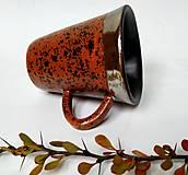 Nádoby - Keramická šálka - fŕkaná - 12496621_