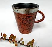 Nádoby - Keramická šálka - fŕkaná - 12496625_