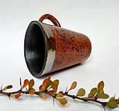 Nádoby - Keramická šálka - fŕkaná - 12496626_
