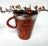 Nádoby - Keramická šálka - fŕkaná - 12496627_