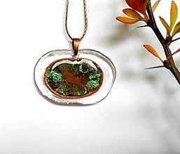 Náhrdelníky - Sklenený šperk - ovál - 12496689_