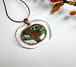 Náhrdelníky - Sklenený šperk - ovál - 12496690_