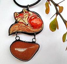 Náhrdelníky - cínový šperk LÍŠKA - 12496723_