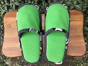 Obuv - Malé zelené papuče - 12495158_