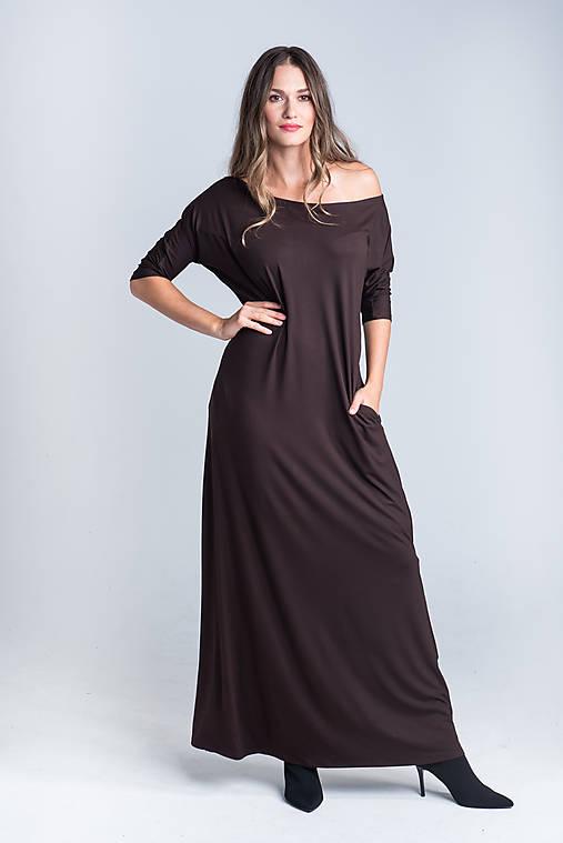 Šaty - Dlhé šaty s rozparkom - 12495064_