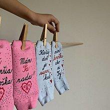 Obuv - Maľované ponožky pre kamošku - 12499390_