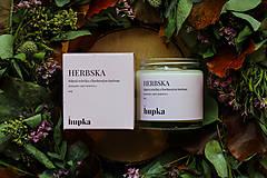 Svietidlá a sviečky - HERBSKA (sójová sviečka s bavlneným knôtom) - 12499915_