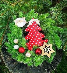 Dekorácie - Vianočný venček na dvere - 12496575_