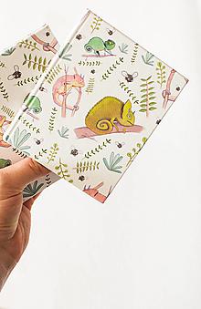 Papiernictvo - Chameleón zápisník - 12499697_