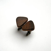 Šperky - Drevené manžetové gombíky - orechové - 12499052_