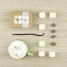 Svietidlá a sviečky - Vanilkové frappé vonný vosk - 12504434_