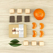 Svietidlá a sviečky - Mandarínka & čokoláda vonný vosk - silica, aróma - 12504485_
