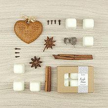 Svietidlá a sviečky - Kúzlo Vianoc vonný vosk - aróma - 12504494_