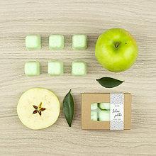 Svietidlá a sviečky - Zelené jablko vonný vosk - 12504497_
