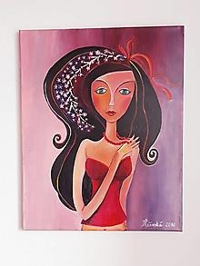 Obrazy - Justína, obraz, 40 x 50 cm, plátno, akryl - 12502529_