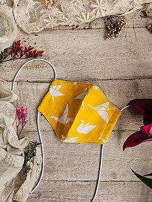 Rúška - Dámské dvouvrstvé rúško - origami - 12504440_