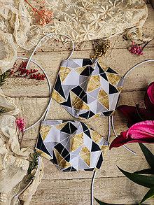 Rúška - Dámské dvouvrstvé rúško - geo n.4 - 12504456_